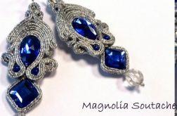 Kolczyki sutasz - szafirowe srebrne NA ZAMÓWIENIE RÓZNE KOLORY