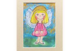 Aniołek obrazek malowany nr 16