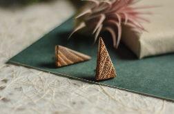Trójkątne kolczyki z drewna akacji