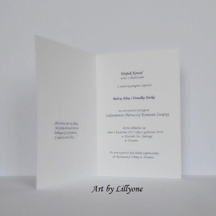 zaproszenie na I Komunię Świetą - kielich