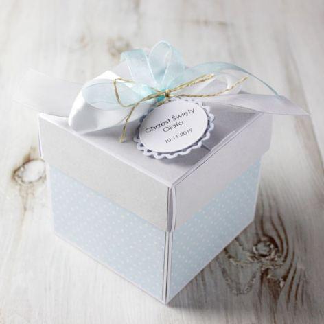 Pudełko - kartka - exploding box - Chrzest1