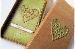 Kartka ślubna z ażurowym sercem