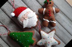 Filcowe ozdoby świąteczne 4szt
