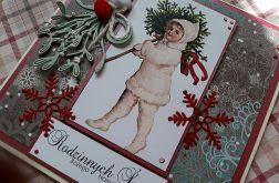 Kartka świąteczna vintage