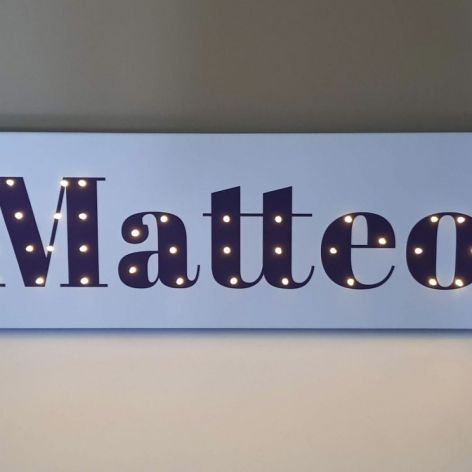 Personalizowany obraz LED -imię dziecka