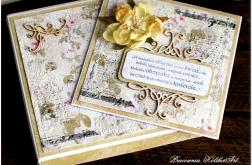 Kartka z kwiatami #36 Ślubna z cytatem