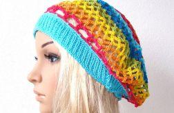 kolorowy wiosenny beret
