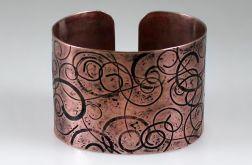 Miedziana bransoletka - zawijasy 160914-03