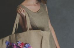 haftowana lniana torebka
