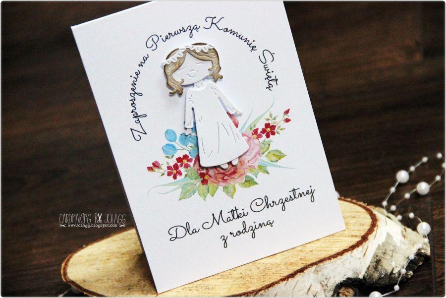 Zaproszenie Dla Ojca Chrzestnego Z Rodziną Cardmaking By Jolagg
