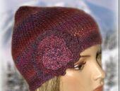 czapka - turecki fiolet