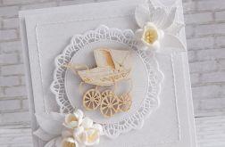 Chrzest w bieli - komplet z wózeczkiem