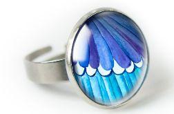 Modraszek pierścionek z ilustracją