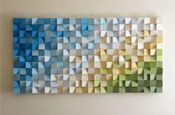 """Obraz drewniany 3D Mozaika drewniana """"CHR"""""""