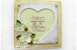 Kartka na ślub z sercem 2