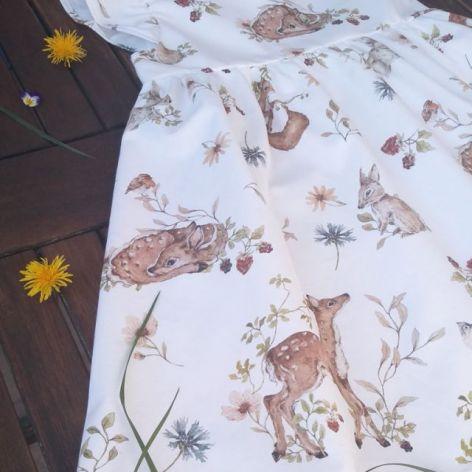 Sukienka Leśne zwierzątka 03