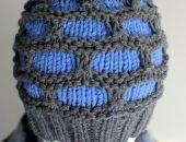 Czarna niebieska czapka unisex