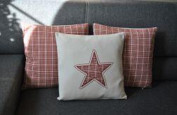 Poszewka filcowa - czerwona gwiazdka