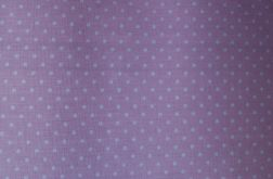 Tkanina różowa w groszki, kropeczki - POLKA DOT