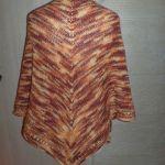 ciepła cieniowana chusta w kolorach jesieni