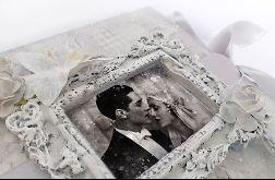 Kartka na ślub w szarościach 01, prezent, pamiątka, pudełko
