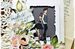 Miłość wokół nas - kartka ślubna