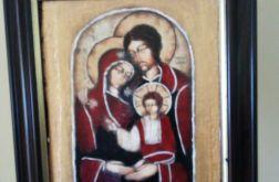 Ikona świętej rodziny - w drewnianej ramie