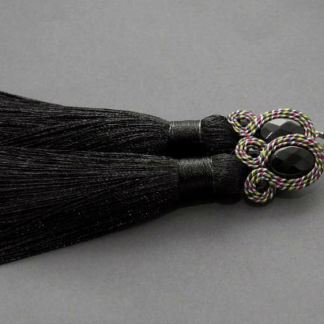 kolczyki lub klipsy sutasz - kolorowy sznurek
