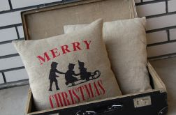 świąteczna poszewka haftowana
