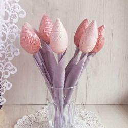 Tulipany glamour błyszczące róż na prezent