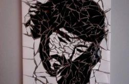MOZAIKA Jezus w koronie cierniowej