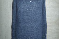 Sweter z drobnymi warkoczami alpaka , jedwab