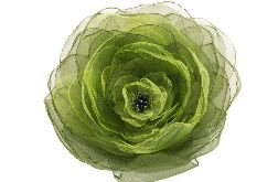 Broszka przypinka kwiat 13 cm, zielona