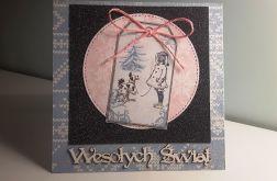 Kartka Boże Narodzenie handmade Wesołych Świą
