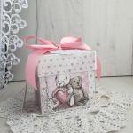 Exploding box z króliczkiem na Chrzest róż