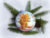 Bombka medalion Misiowe zabawy na śniegu