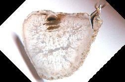 Kremowy kryształ z cytrynem, duży plaster