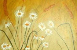 Obraz rumianki malowany ręcznie