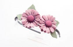 Opaska do włosów kwiatki wrzosowe