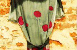 Sukienka jedwabna ręcznie malowana