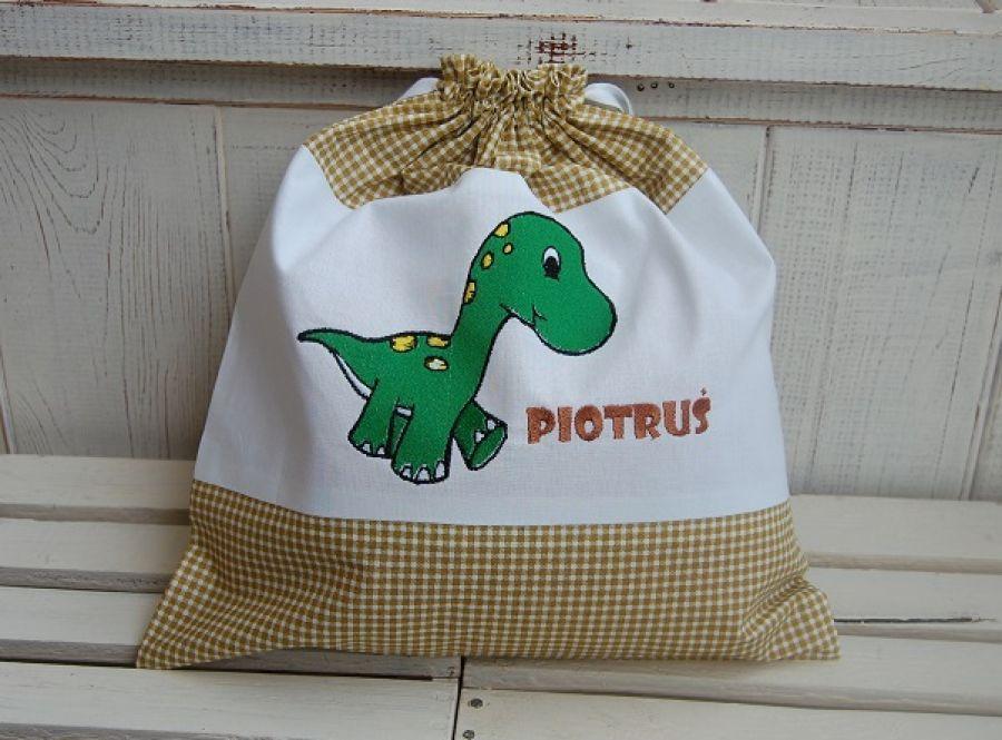 Dinozaur - worek na kapcie/strój