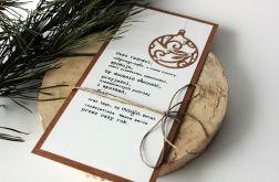 Bombka jednostronicowa karta świąteczna