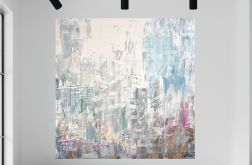 Duży obraz ręcznie malowany 100x100
