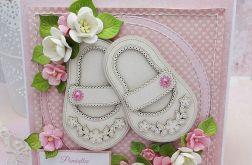 Pamiątka Chrztu dla dziewczynki - buciki