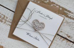 Kartka ślubna z kopertą - życzenia i personalizacja 1b
