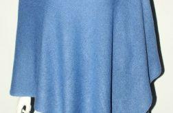Klasyczne gładkie ponczo niebieskie