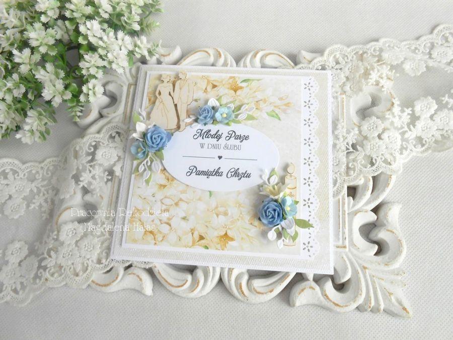 Kartka w pudełku na ślub i chrzciny 05
