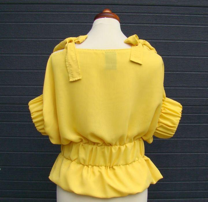 szyfonowa żółta bluzka