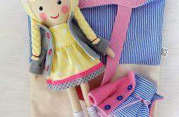 Malowana lala dorotka z dodatkowymi ubrankami