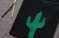 Koszulka ręcznie malowana kaktus unisex